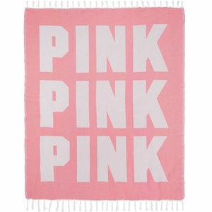 VS PINK Fringe Beach Festival Blanket Throw LE